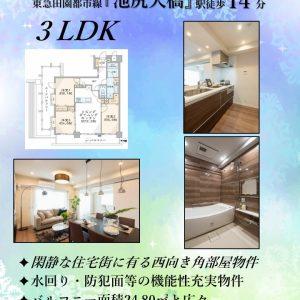 3LDK「池尻大橋」駅14分