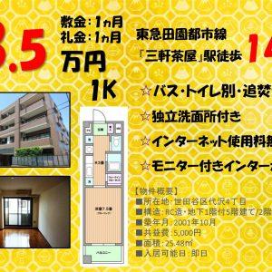 1K「下北沢」駅徒歩12分