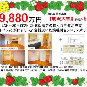 1LDK「駒沢大学駅」徒歩5分
