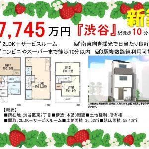 2LDK「渋谷」駅徒歩10分